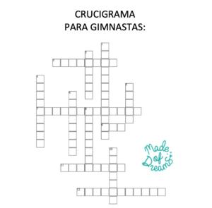 Crucigrama Gimnasia